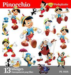 SPRING SALE Pinocchio Disney Instant Download Clipart digital png files PL-0114