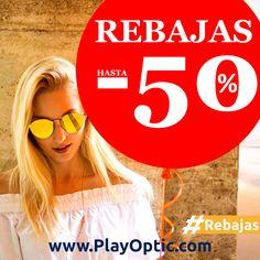 Comienzan las Rebajas en PlayOptic 👏👏  Gafas de Marca hasta el 50% de Descuento y Envío Gratis Solo en.: https://playoptic.com/ #Rebajas #PlayOptic #Gafasdesol #Rayban #Vooglers #Vogueeyewear #Ralph #Persol #Arnette #Shopping #Oferta
