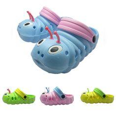 75b41b26940e Kids  Caterpillar Eva Slippers Garden Shoes Beach Shoes Sandals New Trendy