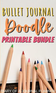 Become a doodling pro with our Doodle Bundle include 40  pages of doodle how to guides so you can embellish the pages of your bullet journal! #bulletjournalprintables #howtodraw #doodle #doodling #drawing #printables