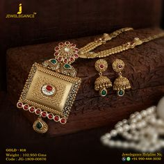 Gold 916 Premium Design Get in touch with us on 919904443030 Gold Jewellery Design, Gold Jewelry, Jewellery Box, Antique Jewellery, Designer Jewellery, Latest Jewellery, Tiffany Jewelry, Temple Jewellery, Diamond Jewellery