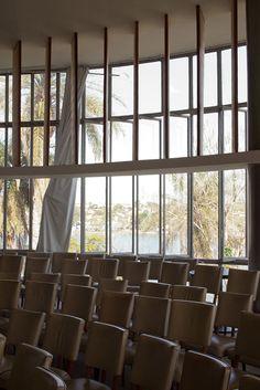 Restauro cassino map - museu de arte da pampulha. Projeto de restauro: Horizontes Arquitetura. Projeto original: Oscar  Niemeyer  Foto : Marcelo Palhares santiago