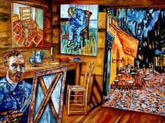 Van Gogh in The Studio  Museum Interior Paintig by k Madison Moore -- k. Madison Moore