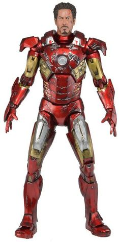 The Avengers Action Figure 1/4 Battle Damaged Iron Man Mark VII 46 cm - The Movie Store