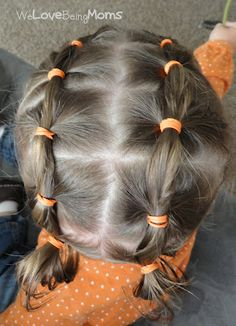 Girl's fly-away hair hairstyles....I remember this specifically for being good when doing sports