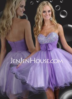 Homecoming Dresses - $128.99 - A-Line/Princess Sweetheart Short/Mini Chiffon Tulle Charmeuse Homecoming Dresses With Ruffle Beading (022009011) http://jenjenhouse.com/A-line-Princess-Sweetheart-Short-Mini-Chiffon--Tulle--Charmeuse-Homecoming-Dresses-With-Ruffle--Beading-022009011-g9011