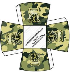Chachepot Kit Militar Camuflado Military Party, Army Party, Nerf Party, Camouflage Party, Army Decor, Army Camo, Calligraphy Alphabet, Minecraft Party, New Years Eve Party
