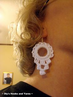 ~ Dly's Hooks and Yarns ~: ~ pure joy earrings ~ free pattern!