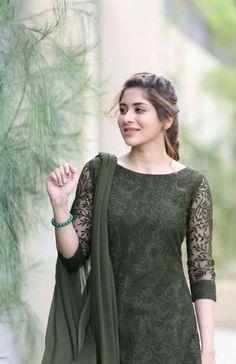 Best 12 Fashion dress selection of designer dresses – SkillOfKing. Salwar Suit Neck Designs, Churidar Designs, Kurta Neck Design, Kurta Designs Women, Dress Neck Designs, Designs For Dresses, Blouse Designs, Pakistani Dresses Casual, Pakistani Dress Design