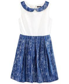 Tommy Hilfiger Girls' Peter Pan Collar Dress