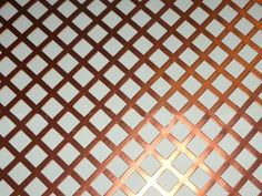 A piece of copper perforated plate sheet with square holes. Perforated Plate, Perforated Metal, Brass Texture, Copper Sheets, Copper Metal, Sheet Metal, Plates, Architecture, Conveyor Belt