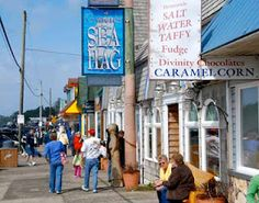 Downtown Depoe Bay, Oregon. My 2 favorite places Sea Hag and Ainslee's salt water taffy