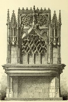Design for the fireplace inside the Palace of the Dukes of Bourgogne, Dijon - The oldest part is the 14th and 15th century Gothic ducal palace