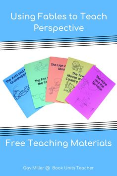 This post provides teaching ideas and free printable and Google Slide Activities to teach perspective in literature to upper elementary students. Hands On Learning, Learning Activities, Creative Teaching, Teaching Ideas, Context Clues, Literature Books, Teaching Materials, Reading Skills, Upper Elementary