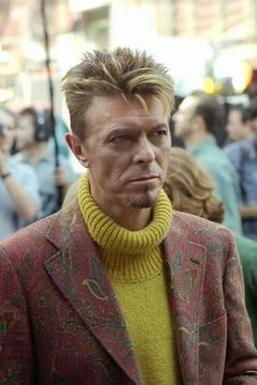 David Bowie from I'm Afraid Of Americans video 90s (backstage photo).