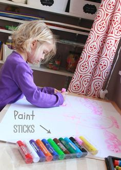 An awesome new kids' art product -- Tempera Paint Sticks (plus a Stubby Pencil Studio giveaway!)