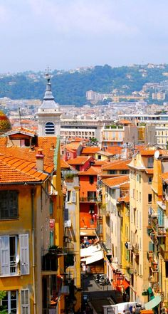 nice, france - one of my favorite places in the world. nice is quite nice.  its got bluer than blue waters.