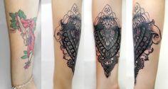 Sündige Haut Tattoo . Suendige Haut Tattoo . Cover up tattoo . Mandala Tattoo