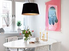 Decorating a Small Dining Room Using Minimalist Concept: Beautiful Classic Small Dining Room Table And Chairs With Curved White Dining Table And Chairs Also Black Dining Lamp Shade ~ bbdesignsny.com Dining Room Inspiration