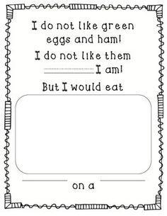 Green Eggs And Ham Worksheets & Teaching Resources Dr Seuss Activities, Preschool Literacy, Kindergarten Writing, Kindergarten Activities, Writing Activities, Preschool Winter, Preschool Themes, Holiday Activities, Classroom Activities