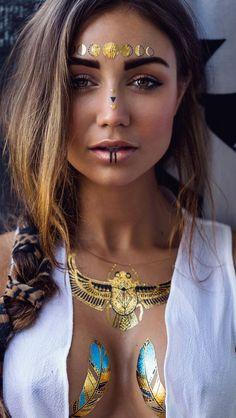 Boho Jewelry :: Accessories :: Gypsy Style Flash Tattoos :: Tribal Ethnic Silver :: Earrings + Bracelet + Rings + Necklace :: Beach Boho :: ZAIMARA :: Feathers:: Bohéme :: Bohemio
