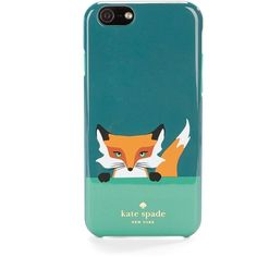 Kate Spade New York Fox iPhone 6 Case ($40) ❤ liked on Polyvore featuring accessories, tech accessories, teal multi en kate spade