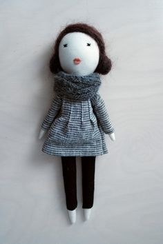 Soft doll handmade one of a kindunique gift by lespetitesmainsS