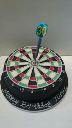 Dartboard cake