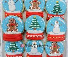 Day 12 of cookie videos is a snow globe!  Check it out on www.flourboxbakery.com or our YouTube channel!