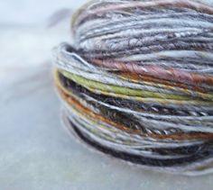 birch bark and lichen..yarn by greybirdstudio on Etsy