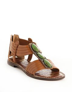 Grenada Leather Flat Sandals