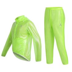 WOLFBIKE Waterproof Windproof Cycling Safety Wind Coat Raincoat and Pant Set Bike Bicycle Jacket Jersey with Hood Breathable Superlight, Fluorescent Green, Size: XXL - http://ridingjerseys.com/wolfbike-waterproof-windproof-cycling-safety-wind-coat-raincoat-and-pant-set-bike-bicycle-jacket-jersey-with-hood-breathable-superlight-fluorescent-green-size-xxl/