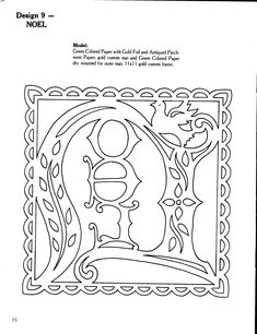 Noel Paper-cutting Pattern