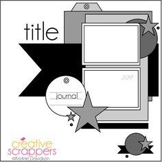 Creative Scrappers: Sketch 309 | August Challenge