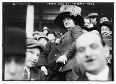 Chorus Girl at Titanic Game April 21 1912 Polo Grounds New York City. (From what chorus? Charley's Aunt?)