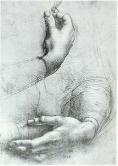 Leonardo Da Vinci: Study of Hands -  c.1485