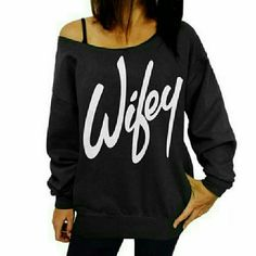 OUT OF STOCK! Wifey Off Shoulder Top  CURRENTLY OUT OF STOCK! MORE ON THE WAY! Comment below to reserve one in your size!  Show your wifey pride! Price firm unless bundled.   PLEASE DO NOT BUY THIS LISTING! Comment below your size and I will tag you in a separate listing.  SAME OR NEXT DAY SHIPPING ON ALL PURCHASES! 10% OFF BUNDLE DISCOUNT WHEN YOU PURCHASE 3 OR MORE ITEMS!  Made of cotton.  Sizing: Bust Waist Length  S 35	26 24 M	37 26 24 L 39 27 24 Tops Tees - Long Sleeve