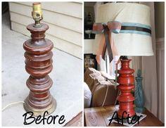 Antes y Despues - Lámpara Thrifty lindo Makeover | Shelterness