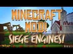 Minecraft Mod! Ancient Warfare! Catapult, Trebuchet, Rocket Launcher & More!
