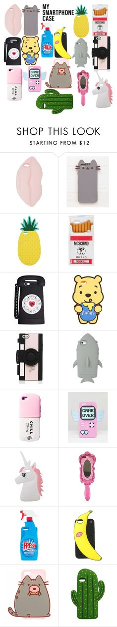 """Cute Phone Cases!"" by sisibff ❤ liked on Polyvore featuring STELLA McCARTNEY, Pusheen, Miss Selfridge, Moschino, Kate Spade, Skinnydip and MANGO"