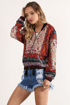 992683061fd2 MeshMe Womens Elisha - Floral Print Lightweight Gauze Bomber Jacket at Amazon  Women s Clothing store