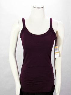 e4b1ad9dc81236 New INC International Concepts Burgundy Tank Top with Built in Bra Size  Small  INCInternationalConcepts