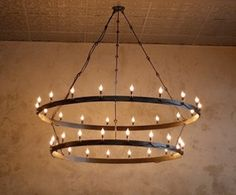 Barrel ring chandelier... Just curious how to make it myself?!?