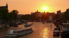Iamsterdam - Amsterdam - Sunset over the Amstel