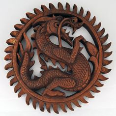 Carved Wooden Dragon Wall Hanging - I actually have one very similar to this at home.