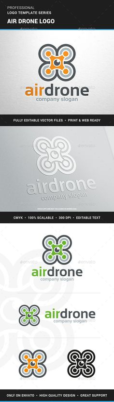 Air Drone Logo Template