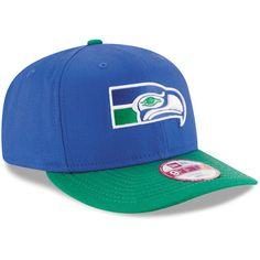 076eb0addea Seattle Seahawks New Era Historic Detailed Vize Original Fit 9FIFTY  Snapback Adjustable Hat - Royal Green