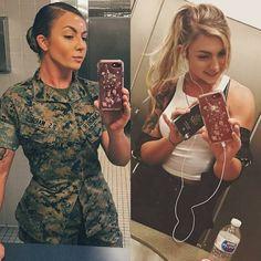 Beautiful and sexy women in and out of uniform Amazing Women, Beautiful Women, Outdoor Girls, Female Soldier, Female Marines, Military Girl, Military Women, Girls Uniforms, Badass Women