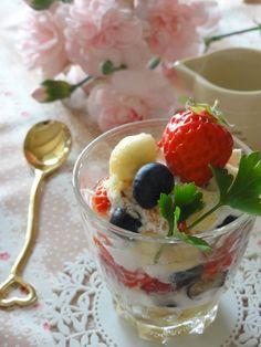 パフェ風フルーツヨーグルト。 | 美肌レシピ