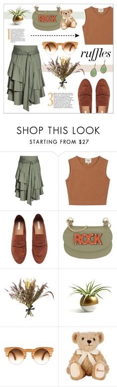 """""""DANCING IN RUFFLES"""" by sodapopcandy ❤ liked on Polyvore featuring Vince Camuto, Samuji, Patrizia Pepe, Abigail Ahern, Harrods, ABS by Allen Schwartz, ruffles and RuffLyfe"""
